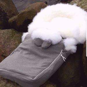 lammeskinnspose - norske villsauskinn as